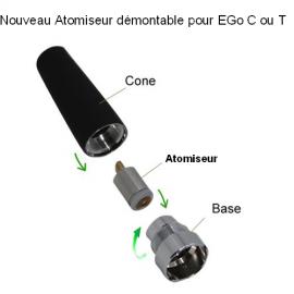 pack Cone et base pour atomiseur interchangeable EGo C